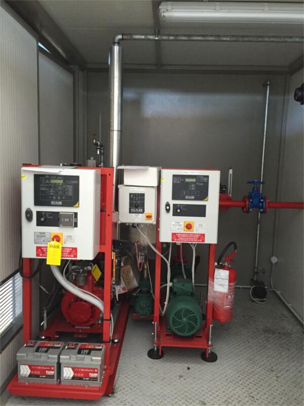 Impianti antincendio: Gruppo antincendio box