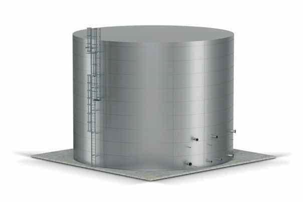 Serbatoio antincendio da esterno verticale pannellato